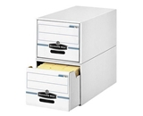 o Fellowes Inc o - Storage Drawers, Legal, 15-1/4-x23-1/2-x10-1/4-, 6/CT, WE/BE