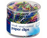 Officemate Vinyl Coated #2 Paper Clips, Assorted Colors, Tub of 1000 (97634)