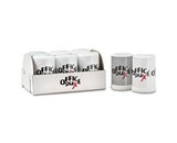 Office Snax OFX00056 Ragold Mini Condiment Set, .4 oz Salt, .17 oz Pepper, Six-Shaker Set