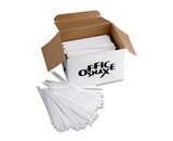 Office Snax OFXSTR5 Plastic Stir Sticks 5- Plastic White