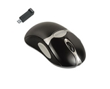 Optical Cordless Mouse Antimicrobial Five-Button/Scroll Black/Silver