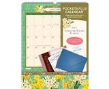 Orange Circle 2013 Pockets Plus Wall Calendar, Forever Yours Floral (16019)