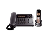 Panasonic KX-TG1061M Cordless/Corded Phone with Answering Machine, Metallic Grey