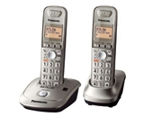 Panasonic KX-TG4012N DECT 6.0 PLUS Expandable Digital Cordless Phone, Champagne Gold, 2 Handsets