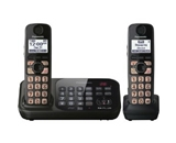 Panasonic KX-TG4742B DECT 6.0 Cordless Phone with Answering System, Black, 2 Handsets (KXTG4742B)