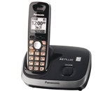 Panasonic KX-TG6511B DECT 6.0 PLUS Expandable Digital Cordless Phone, Black, 1 Handset