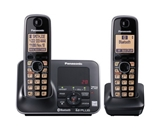 Panasonic KX-TG7622B DECT 6.0 Link-to-Cell via Bluetooth Cordless Phone, Black, 2 Handsets