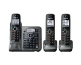 Panasonic KX-TG7643M dect 6.0 Link-to-Cell Bluetooth Cordless Phone with 3-Handsets