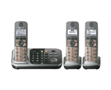 Panasonic KX-TG7743S DECT 6.0 Link-to-Cell via Bluetooth Cordless Phone with Answering System, Silver, 3 Handsets