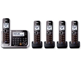 Panasonic KXTG7875S DECT 6.0 5-Handset High Quality Phone System with Answering Capability