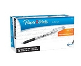 Paper Mate X-Tend Stick Medium Tip Ballpoint Pens, 12 Black Ink Pens (25301NW)