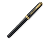 Parker Sonnet Lacquer Medium Point Rollerball Pen with Golden Trim, Black (1743581)