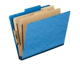 Pendaflex 1257LB Pendaflex Pressguard Classification Folders, Ltr, 6-Section, Light Blue, 10/Box