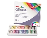 Pentel Products - Pentel - Oil Pastel Set With Carrying Case, 36-Color Set, Assorted, 36/Set