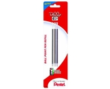 Pentel Refill Ink for Rolly 4-Color Retractable Ballpoint Pen, 0.7mm, Fine Line, Assorted Ink, 4 Pack