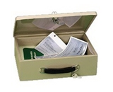 PM Company 4968, Cash Boxes Fire Retardant Security Box, 12-3/4-W x 8 -1/4-L x 4-H, 6 per ctn