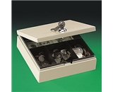 PMC04962 Locking Personal Steel Cash/Security Box, 6-3/4w x 6-7/8d x 2h, Pebble Beige