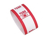 PMC55030 Color-Coded Kraft Currency Straps $5 Bill $500, Self-Adhesive