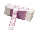 PMC55032 Color-Coded Kraft Currency Straps $20 Bill $2000, Self-Adhesive