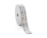 PMC59005 Generations Consecutively Numbered Double Ticket Roll - White