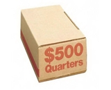 PMC61025 Corrugated Cardboard Coin Storage with Denomination Printed On Side