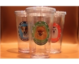 Pomeranian Dog Clear Insulated Tumbler Grande To-Go Cup