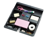 Post-it Desk Drawer Organizer, 10-1/2 x 11-3/4 x 1-5/8-Inches, Black