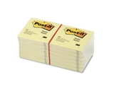 Post-it Notes, 3 inches by 3 inches, Canary Yellow, 100-Sheet Pads in 12-Count Packages (Pack of 2)