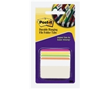 Post-it Tabs, 2-Inch Angled Lined, Assorted Bright Colors, 6-Tabs/Color, 4 Colors, 24-Tabs/Pack