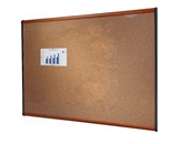 Quartet B243LC Prestige Colored Cork Bulletin Board, 3- x 2-, Cherry Finish Frame