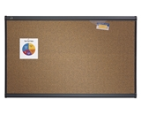 Quartet B244G Prestige Colored Cork Bulletin Board, 4- x 3-, Graphite Finish Frame