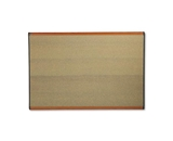 Quartet B247LC Prestige Colored Cork Bulletin Board, 6- x 4-, Cherry Finish Frame