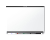 Quartet P553BP2 Prestige 2 DuraMax Porcelain Magnetic Whiteboard, 3- x 2-, Black Frame
