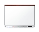 Quartet P554MP2 Prestige 2 DuraMax Porcelain Magnetic Whiteboard, 4- x 3-, Mahogany
