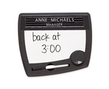 Quartet Tack and Write Nameplate, 9 x 10.5 x .75 Inches, Black (25035)