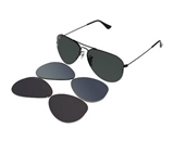 Ray Ban RB3460 Black/ Grey Green (Interchanagble Lens) 002/71 59mm Sunglasses