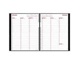 Rediform Office Products Products - Weekly Planner, Hardcover, Weekday Schedule, 11-x8-1/2-, Black