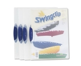 Report Cover Swing Clip Letter Holds 30 Pages Clear/Dark Blue 5/Pack