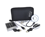 Royal AK300 Notebook Accessory Kit with USB Webcam/Mouse/Keypad/LED Light and USB 2.0 Hub