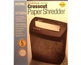 Royal Machines HT500X Shredder 5-Sheet Cross Cut Shredder with Auto Start/Stop