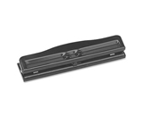 S.P. Richards Company Adjustable 3 Hole Punch, Adjustable, 1/4- Size, 8-10 Sheet Capacity, BK (SPR00786)