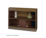 Safco 3-Shelf Square-Edge Veneer Bookcase, Walnut [Kitchen]