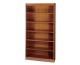 Safco 6-Shelf Square-Edge Veneer Bookcase, Cherry [Kitchen]