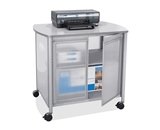 Safco Impromptu Deluxe Machine Stand with Doors, Gray (1859GR) [CD-ROM]
