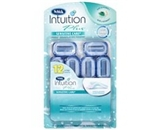 Schick intuition naturals sensitive care 12 cartridges plus a bonus handle