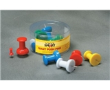 School Smart Push Pins - Giant - Pack of 12 - Assorted Colors