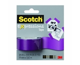 Scotch Expressions Tape Removable 3/4-X300--Purple