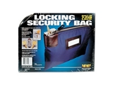 Seven-Pin Security/Night Deposit Bag w/2 Keys, Nylon, 8-1/2 x 11, Navy