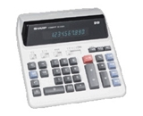 Sharp QS-2122 Compact Desktop Calculator 12-Digit Fluorescent Automatic Three-Digit Punctuation