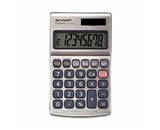 Sharp EL-326SB Extra-Large 8-Digit LCD Readout w/Punctuation Calculator